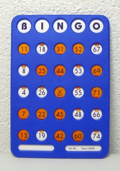 Bingofensterkarte 25/75
